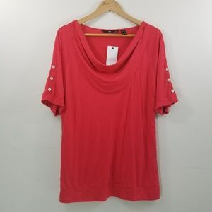MNG By Mango Red Blouse Size L
